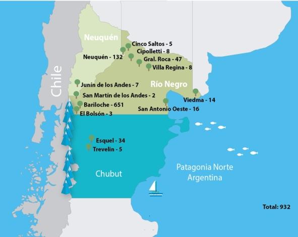 Mapa Patagonia Norte 2016
