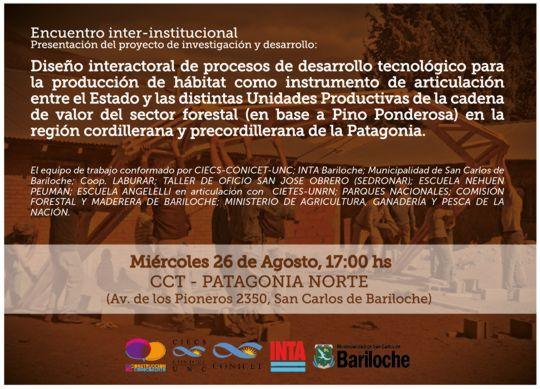 invitacion Encuentro inter-institucional CCT Bariloche